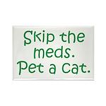 Pet a Cat Rectangle Magnet