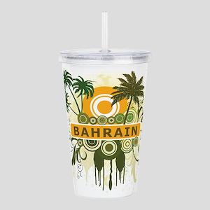 Palm Tree Bahrain Acrylic Double-wall Tumbler