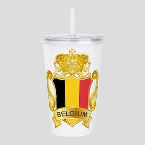 Gold Belgium Acrylic Double-wall Tumbler