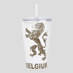 Vintage Belgium Acrylic Double-wall Tumbler
