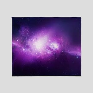 Purple Nebula Throw Blanket