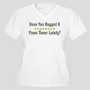 Hugged Piano Tuner Women's Plus Size V-Neck T-Shir