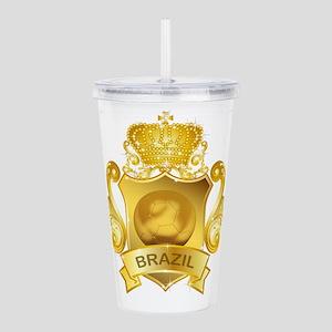 Gold Football Brazil Acrylic Double-wall Tumbler