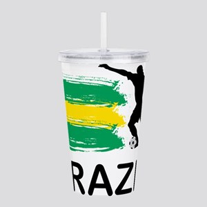 Brazil Football Acrylic Double-wall Tumbler