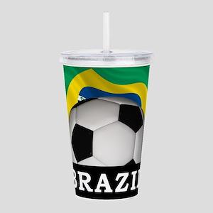 Brazil Football Acrylic Double-wall Tumbler