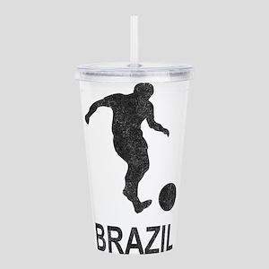 Vintage Brazil Soccer Acrylic Double-wall Tumbler