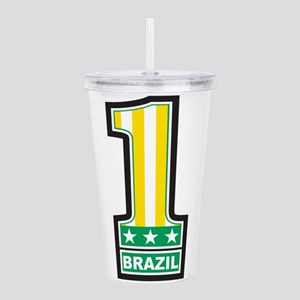 Number 1 Brazil Acrylic Double-wall Tumbler