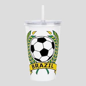 Brazil Soccer Acrylic Double-wall Tumbler
