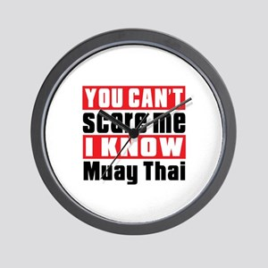 I Know Muay Thai Wall Clock