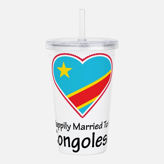 Happily Married Congolese Acrylic Double-wall Tumb