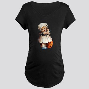 vintage halloween girl Maternity T-Shirt