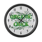 Organic Chick Large Wall Clock