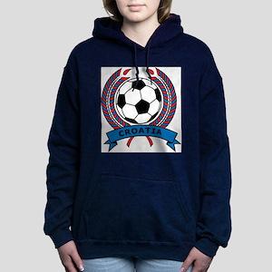 Soccer Croatia Women's Hooded Sweatshirt