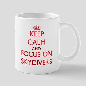 Keep Calm and focus on Skydivers Mugs