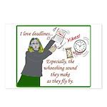 I love deadlines! Postcards (Package of 8)