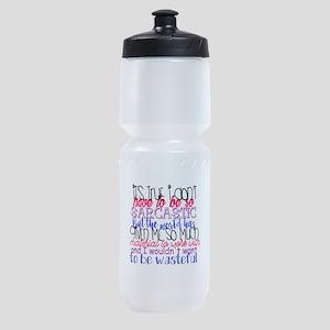 so sarcastic humor Sports Bottle