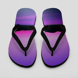 256564ea85fe Purple Sunset Flip Flops - CafePress