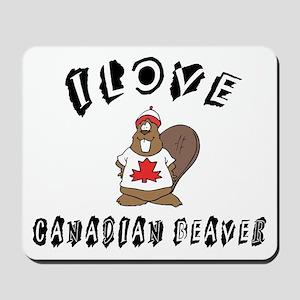 I Love Canadian Beaver Mousepad