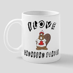 I Love Canadian Beaver Mug