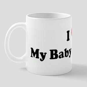 I Love My Baby Shin Tzu Mug