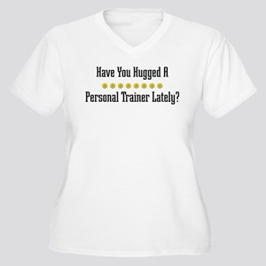 Hugged Personal Trainer Women's Plus Size V-Neck T