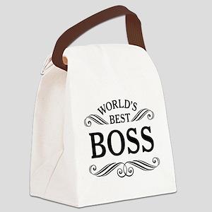 Worlds Best Boss Canvas Lunch Bag