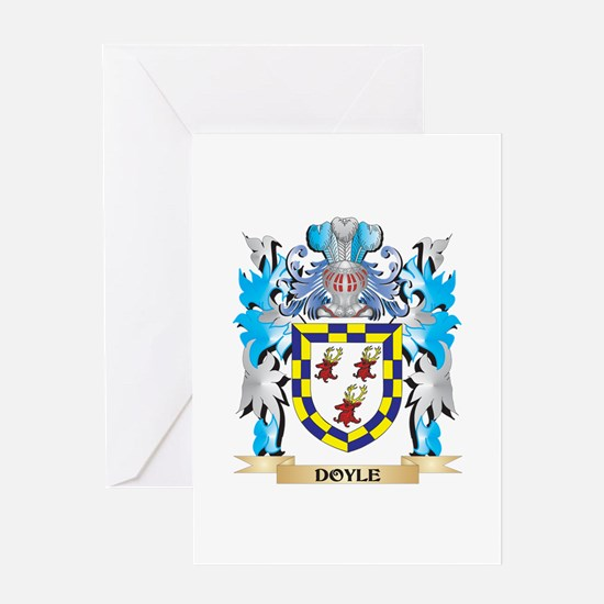 Doyle Coat of Arms - Family Crest Greeting Cards