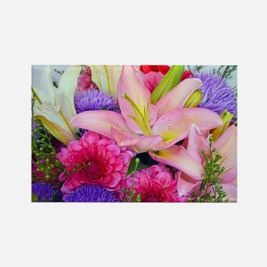 Unique Bouquet Rectangle Magnet
