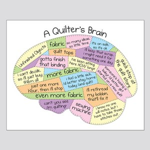 Quilter's Brain Small Poster
