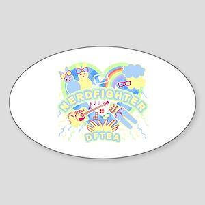 Nerdfighter Cute Sticker (Oval)