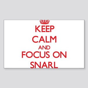 Keep Calm and focus on Snarl Sticker