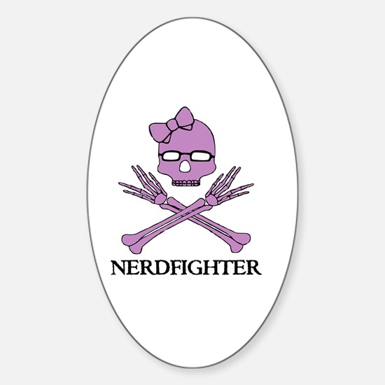 Nerdfighter Skull Sticker (Oval)