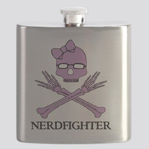 Nerdfighter Skull Flask