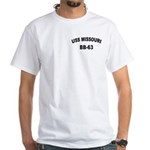 USS MISSOURI White T-Shirt
