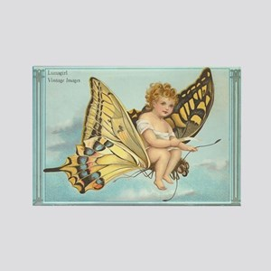 Victorian Butterfly Fairy Rectangle Magnet