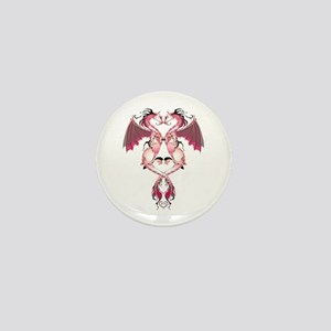 Pink Love Dragons Mini Button