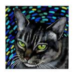 Cat Portrait Tile Coaster