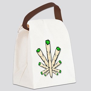 Marijuana Joint Leaf Canvas Lunch Bag