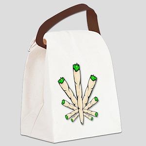 Marijuana Joint Leaf Canvas Lunch Bag