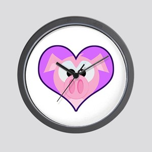 Cute Goofkins Piggy in Heart Wall Clock