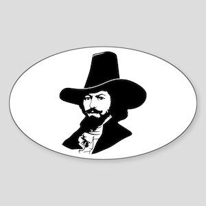 Strk3 Guy Fawkes Oval Sticker