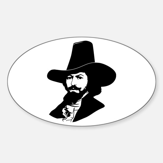 Strk3 Guy Fawkes Oval Decal