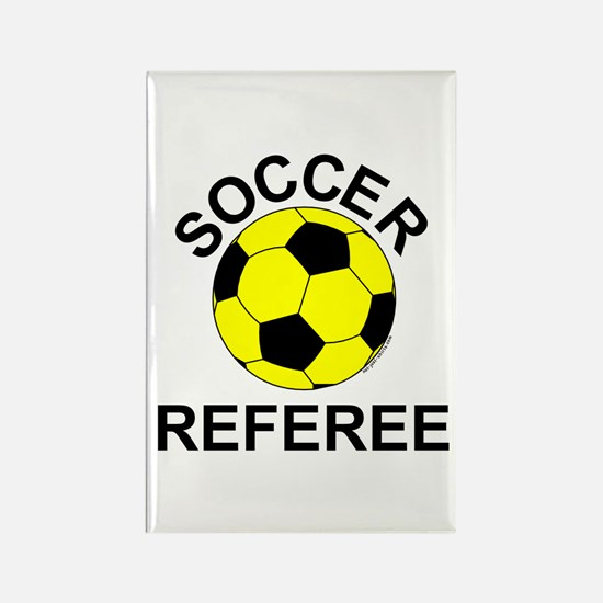 Soccer Referee Rectangle Magnet (100 pack)