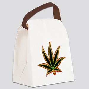 Colorful Cannabis Canvas Lunch Bag