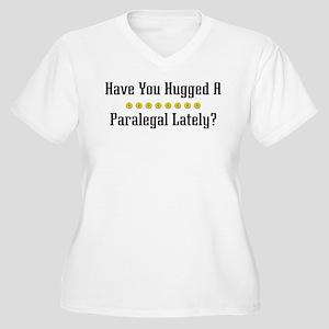 Hugged Paralegal Women's Plus Size V-Neck T-Shirt