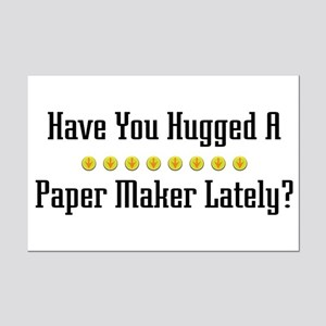 Hugged Paper Maker Mini Poster Print