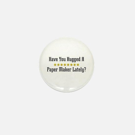 Hugged Paper Maker Mini Button