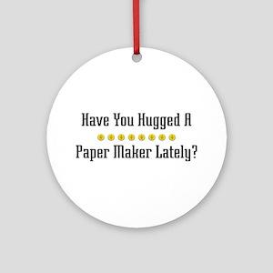 Hugged Paper Maker Ornament (Round)