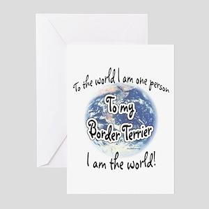 Border Terrier World2 Greeting Cards (Pk of 10