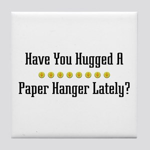 Hugged Paper Hanger Tile Coaster